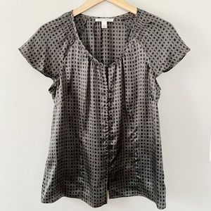 Banana Republic Silk Windowpane Blouse